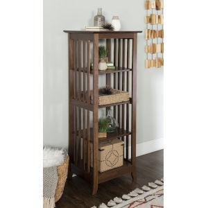 Reese Cappuccino Single Bookcase