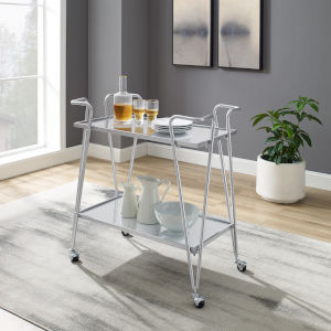 Silver and Chrome Bar Cart