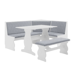 Charlotte White 66-Inch Nook Table Set