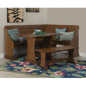 Samuel Brown 73-Inch Breakfast Nook with Table and Bench