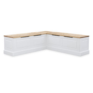 Triena White 62-Inch Two Tone Breakfast Nook