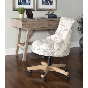 Amara Floral Gray Office Chair