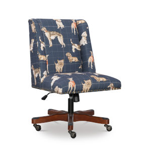 Tate Walnut Drape Dog 24-Inch Office Chair