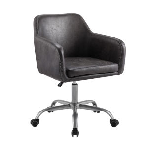 Rylen Charcoal and Silver Office Chair