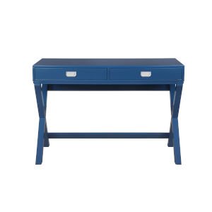 Adrian Navy Blue Two drawer Writing Desk