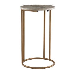 Zaro Gold Round C Table