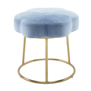 Peggy Gold Blue 18-Inch Vanity Stool