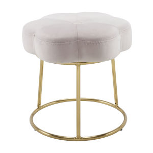 Peggy Gold Pink 18-Inch Vanity Stool