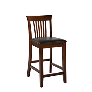 Triena Dark Cherry 24-Inch Craftsman Counter Stool