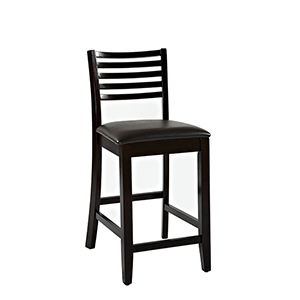Triena Espresso 24-Inch Ladder Counter Stool