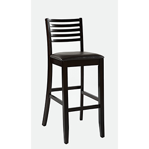 Triena Espresso 30-Inch Ladder Bar Stool