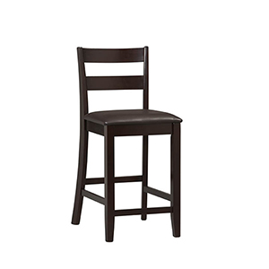 Triena Espresso 24-Inch Counter Stool