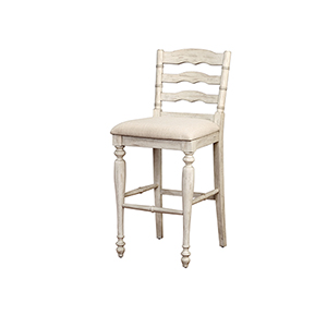 Marino White Wash 30-Inch Bar Stool