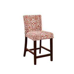 Morocco Lava Red 24-Inch Counter Stool