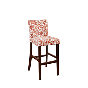 Morocco Lava Red 30-Inch Bar Stool