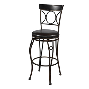 Circles Brown and Black 24-Inch Counter Stool