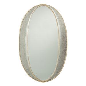 Nadine Champagne Oval Mirror