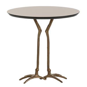 Emilio Antique Brass Accent Table