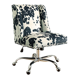 Draper Black and White Office Chair