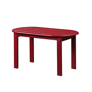Red Outdoor Adriondack Coffee Table