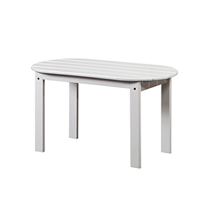 White Outdoor Adriondack Coffee Table