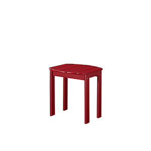 Red Outdoor End Table