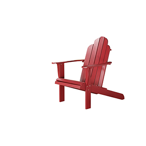 Red Outdoor Adirondack Chair