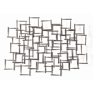 Ecko Natural Iron 34.5-Inch Wall Sculpture Decor