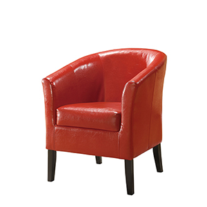 Comfort Pointe Red Goose Neck Arm Chair 6700 Red Bellacor