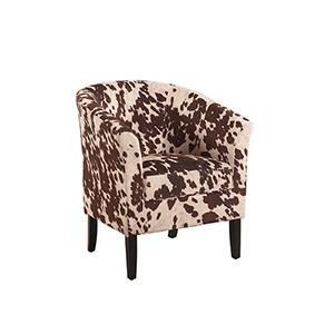 Simon Dark Walnut Upholstered Chair