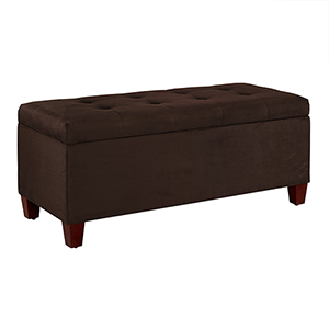 Carmen Dark Brown Shoe Storage Ottoman