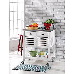 Robbin White Kitchen Cart