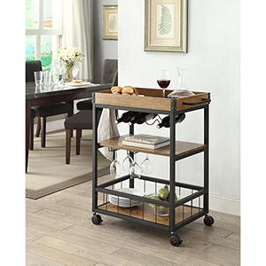 Austin Black Kitchen Cart