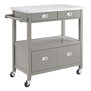 Sydney Gray Kitchen Cart