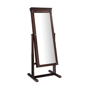 Angela Walnut Cheval Mirror