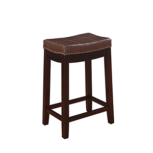 Claridge Dark Brown 24-Inch Counter Stool