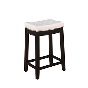 Claridge White 24-Inch Counter Stool