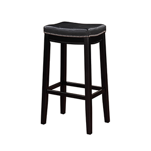 Claridge Black 30-Inch Bar Stool