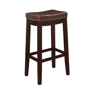 Claridge Dark Brown 30-Inch Bar Stool