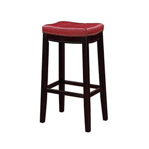 Claridge Red 30-Inch Bar Stool