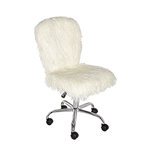 Flokati White Office Chair