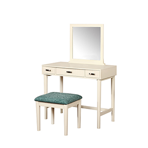 Garbo Cream Vanity with Bench