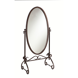 Clarisse Antique Brown Cheval Mirror