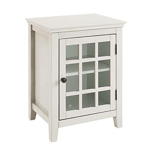 Largo Antique White Single Door Cabinet
