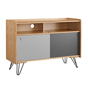 Perry Natural, Light Gray and Dark Gray Console Table