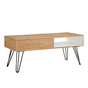 Perry Natural, White and Orange Coffee Table