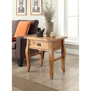 Santa Fe Antique Pine End Table