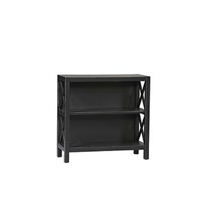 Anna Antique Black Three Shelf Bookcase