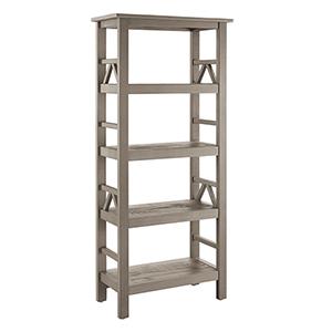 Titian Rustic Gray Bookcase