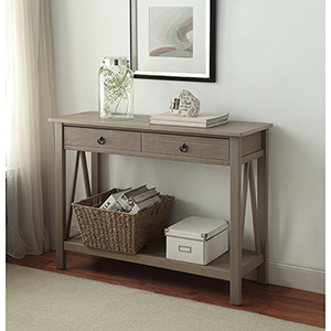 Titian Rustic Gray Console Table